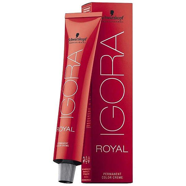 Coloração Igora Royal schwarzkopf 6.12 Louro Escuro Cinza Fumê 60g