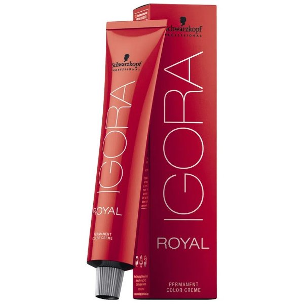 Coloração Igora Royal schwarzkopf 7.57 Louro Médio Dourado Cobre 60g