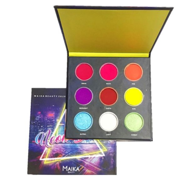 Paleta Neon Beats Maika Beauty 11,7G
