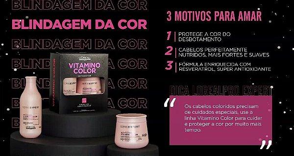 Kit Edição Limitada L'Oréal Professionnel Serie Expert Vitamino Color Resveratrol Shampoo 300ml + Máscara 250g