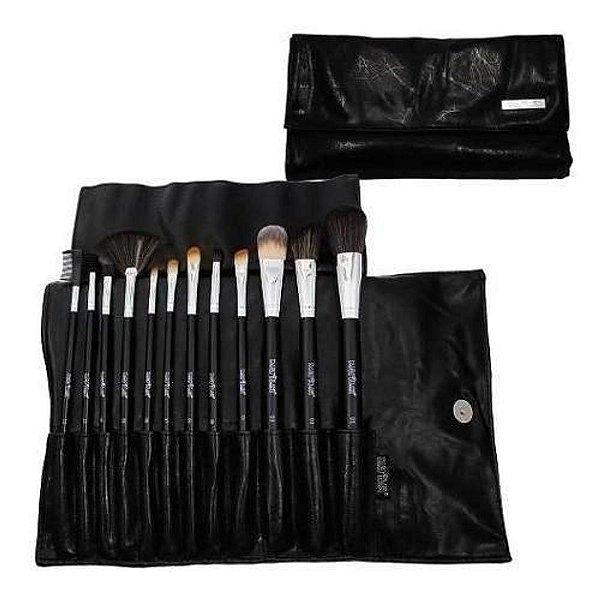 Kit com12 Pincéis para Maquiagem Profissionais Macrilan