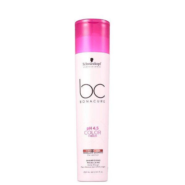 Shampoo pH 4.5 Color Freeze Micellar Vibrant Red Schwarzkopf Professional Bonacure 250ml