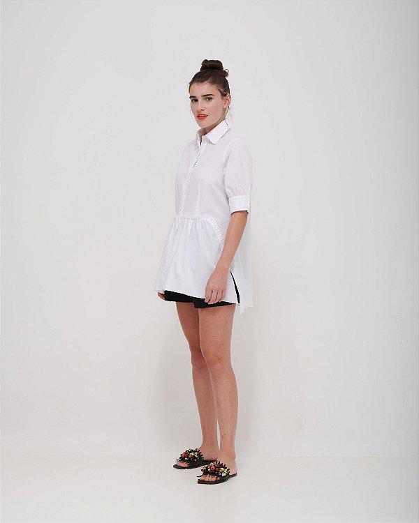 Camisa Cottagecore com Babado em Tricoline Premium