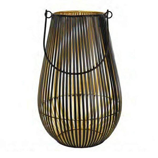 Lanterna Decorativa Rattan Metal