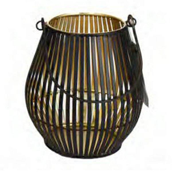 Castiçal Decorativo Rattan Metal M