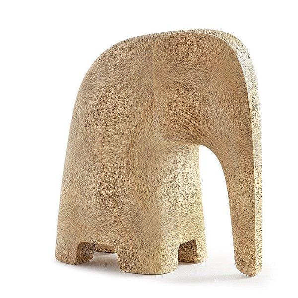 Escultura Elefante Madeira