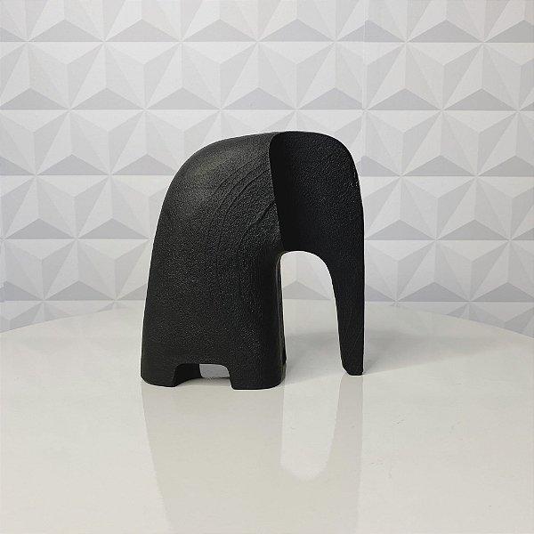 Escultura Elefante Preto