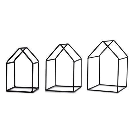 Kit 3 Casa Preta em Metal