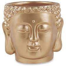 Cachepot Buda Dourado
