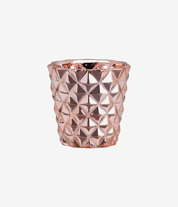 Cachepot Rose Gold em Cerâmica