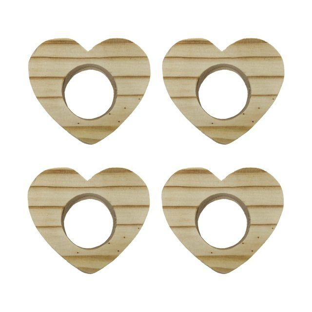 Conjuntos 4 Anéis para Guardanapos de Coração