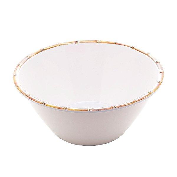 Saladeira Bambu Branco