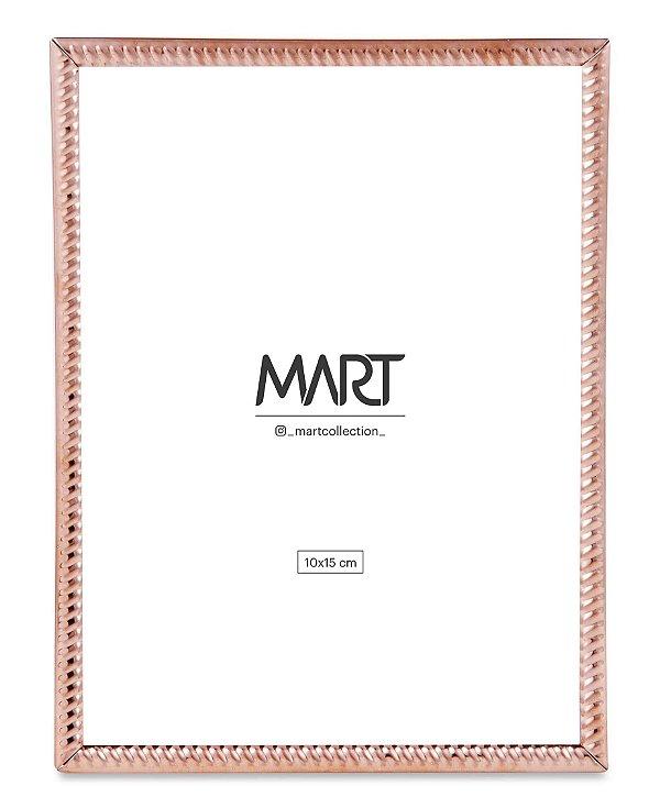 Porta Retrato Rose Gold em Metal 15x20