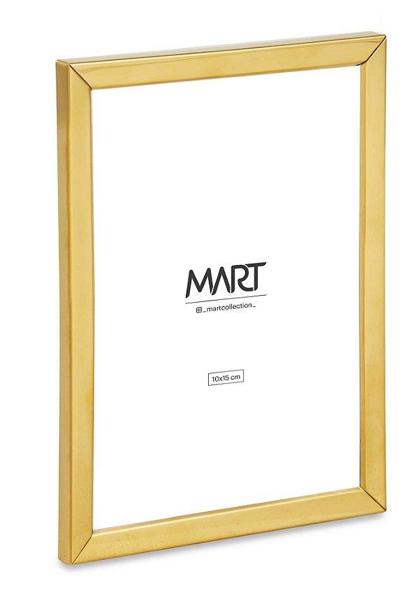 Porta Retrato Dourado em Metal 10x15