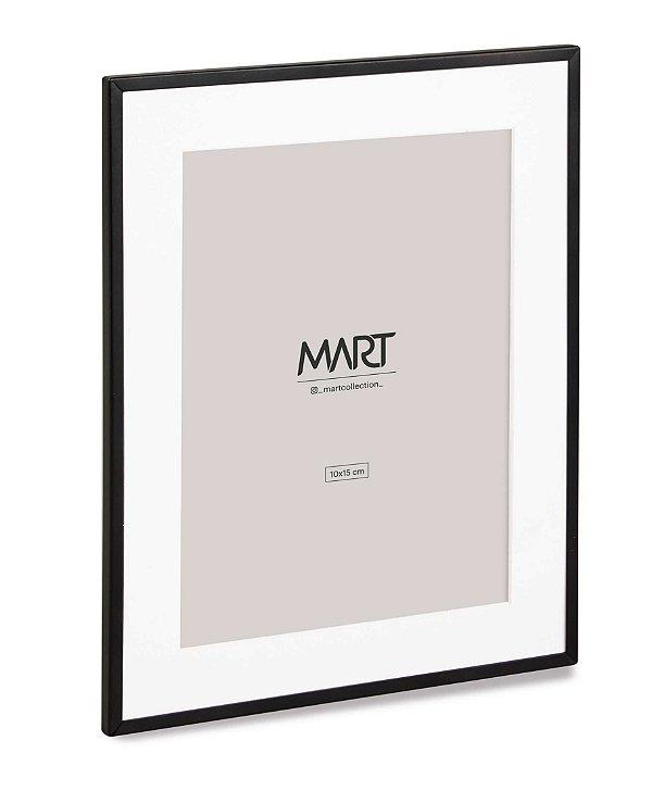 Porta Retrato Preto em Metal 10x15