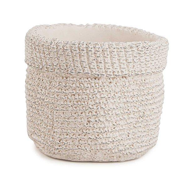 Cachepot em Cimento Branco