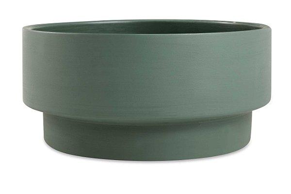 Cachepot em Cimento Verde