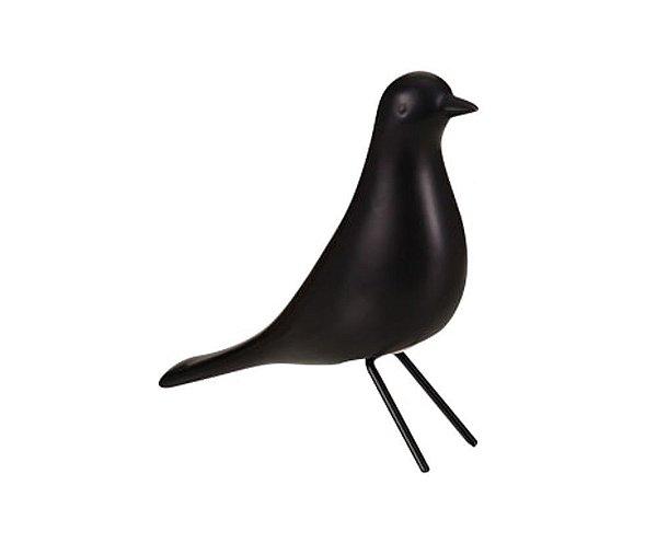Pássaro Cerâmica Preto