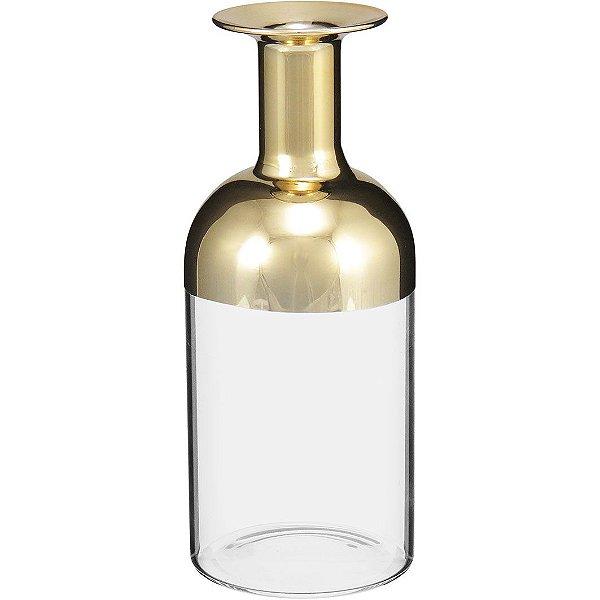 Garrafa de Vidro Dourado M