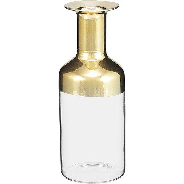 Garrafa de Vidro Dourado P