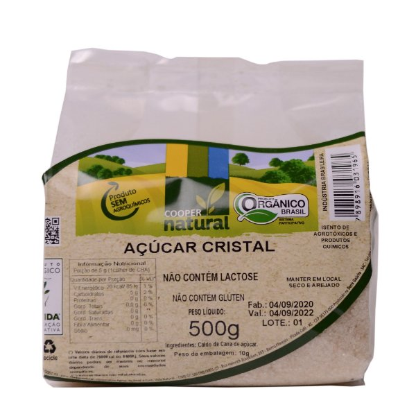 Açúcar Orgânico 500gr