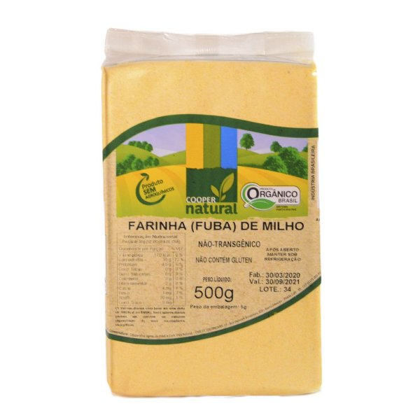 Farinha de Milho (Fubá) 500g - Sem glúten