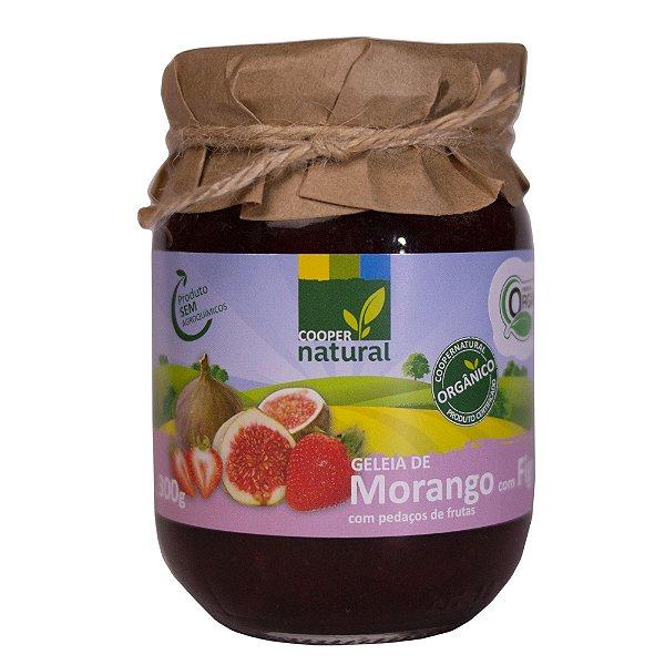 Geleia de Morango com Figo com pedaços de fruta 300g