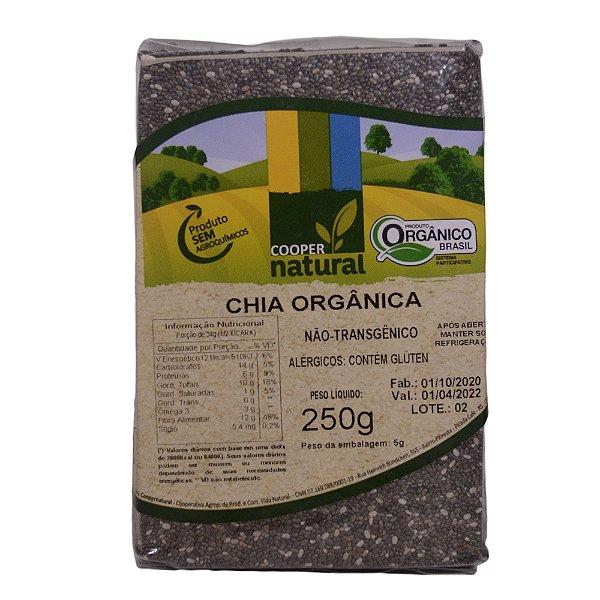 Chia Orgânica 250g - Contém glúten