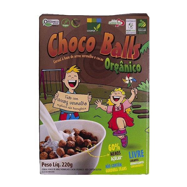 Choco Balls - à base de Arroz Vermelho 220g - Sem Glúten