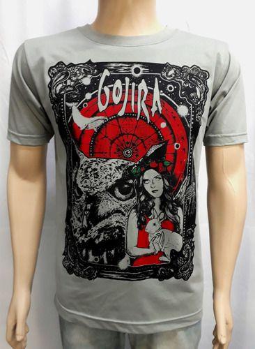 Camiseta Gojira - Malha Cinza