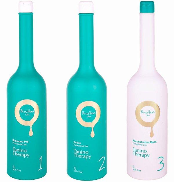 Escova Progressiva Tanino Therapy by Brazilian Oils Kit (3 Passos)