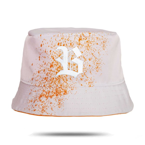 Bucket Hat Resping White/All Orange