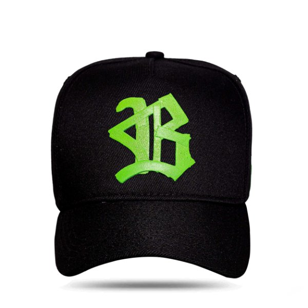 Boné Snapback Logo Ribbon Green Black