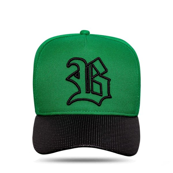 Boné Snapback Aba Perfored Green Clear