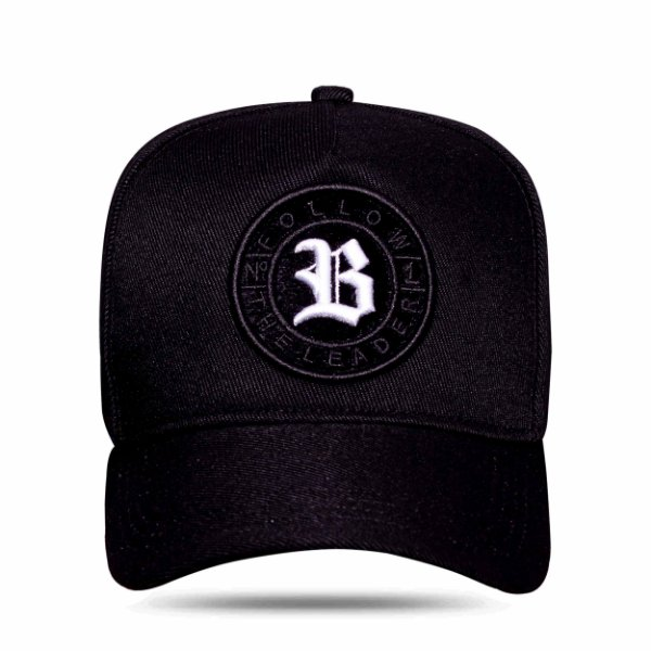 Boné Snapback Follow Logo Camu Black White