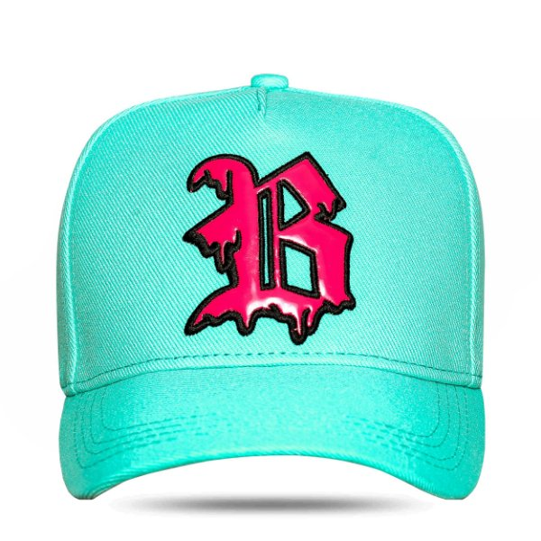 Boné Snapback Splash Green Water Logo Pink