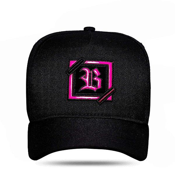Boné Snapback ZigZag Fluor Pink Black