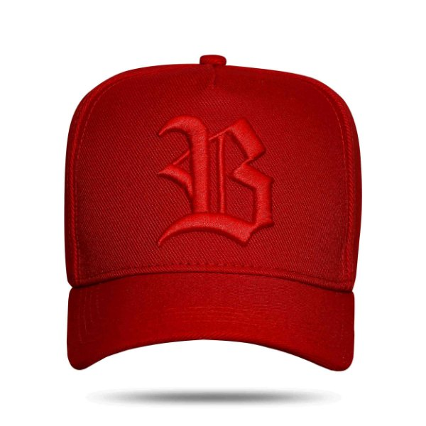Boné Snapback All Red Aba Suede
