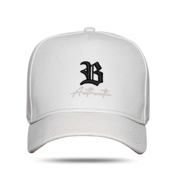 Boné Snapback Authentic Cream Logo Black