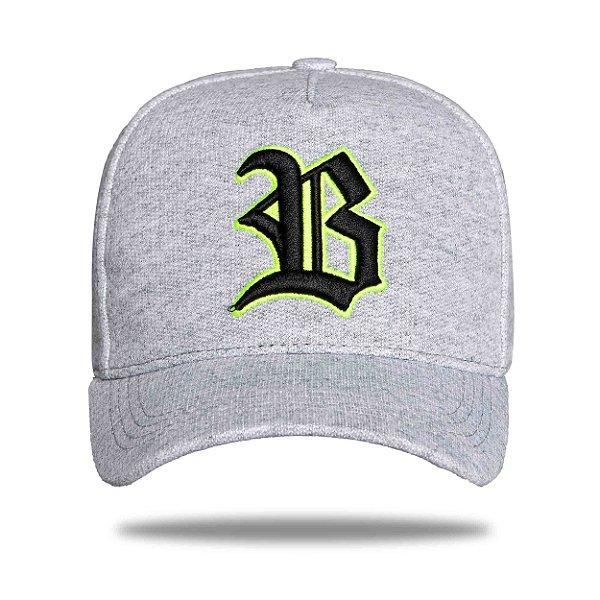 Boné Strapback Gray Logo Black