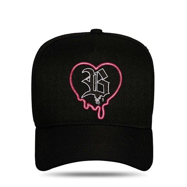 Boné Snapback Splash Heart Black