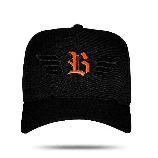 Boné Snapback Wings Logo Orange