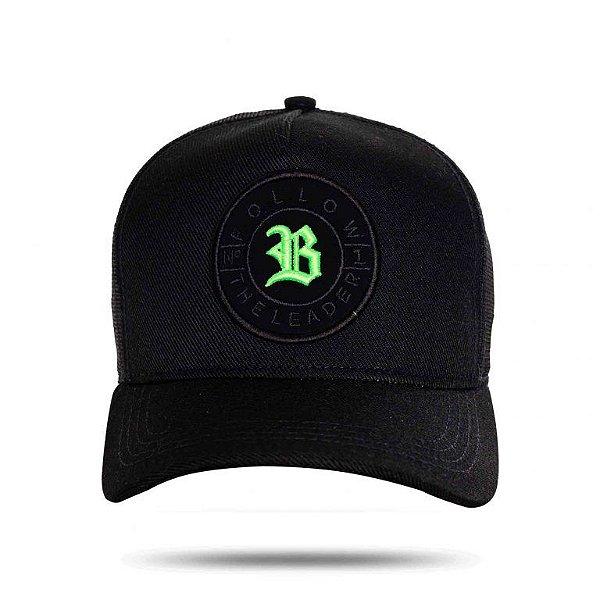 Boné Trucker Number Green Black