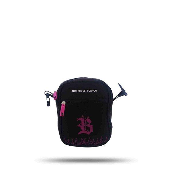Shoulder Bag Blck Flames Roxo
