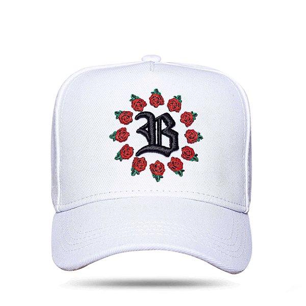 Boné Snapback All Roses White
