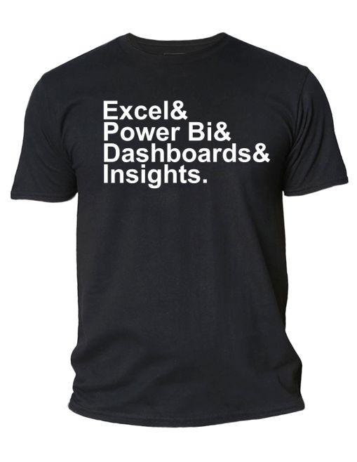 Camiseta Excel, PBI, Dashboards & Insights