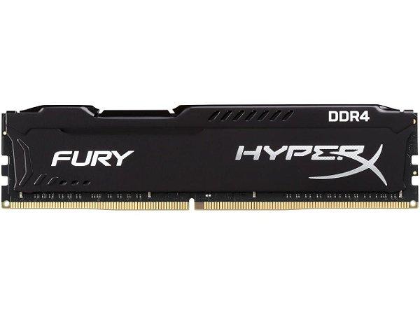 HyperX Fury 16GB (1x16GB) DDR4 2666MHz DRAM CL16 1.2V Black DIMM (288-pin) - HX426C16FB/16 (Intel XMP, AMD Ryzen)