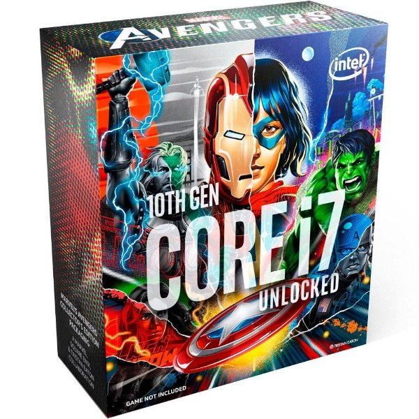 Processador Intel Core i7-10700K Marvel´s Avengers Collector´s Edition Packaging, Cache 16MB, 5.1GHz, LGA1200 - BX8070110700KA
