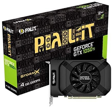 Placa De Vídeo Palit Nvidia Geforce Gtx 1050 Ti Stormx, 4gb, Gddr5, 128bit, Ne5105t018g1-1070f