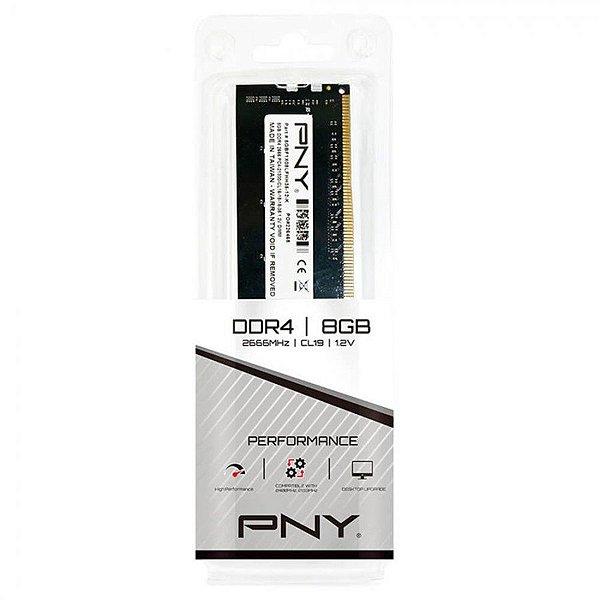 PNY Memória 8GB DDR4 2666MHz CL19 288 Pinos